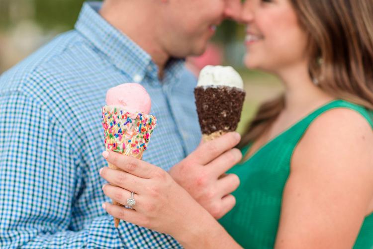 Ice cream date night | Photo credit: The Veil Wedding Photography