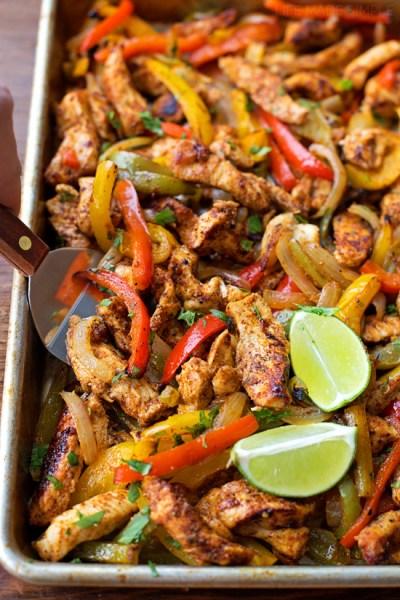 Sheet Pan Chicken Fajitas | 10 Best Sheet Pan Dinners