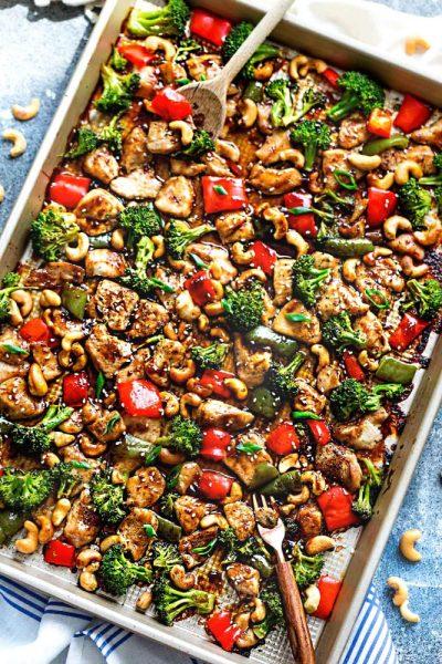 Sheet Pan Cashew Chicken | Best Sheet Pan Dinners