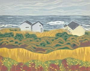 Linoleum Block Relief Print for Sale - Cow's Head, NFLD