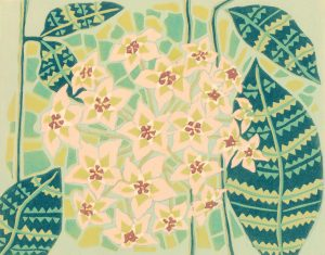 Original Linoleum Relief Art Print for Sale - Blossom