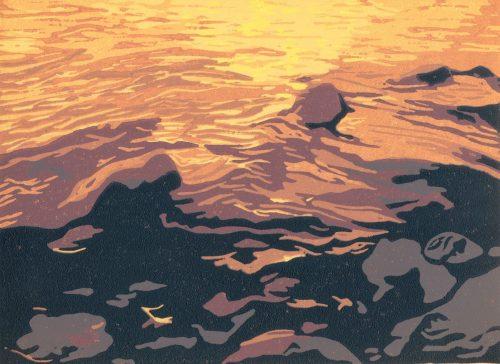 Woodblock Relief Print for Sale - Texada Island, Gulf Islands, BC