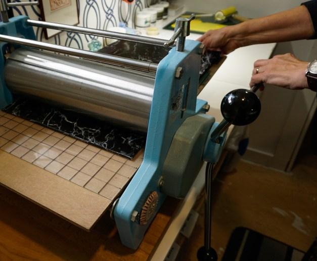 Linocut Tutorial, Printing - Blue Chisel Studio