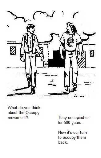 Newspaper Rock: PEACE PARTY political cartoon: Occupy