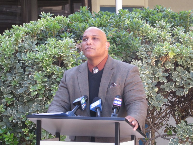 Superintendent Roberson speaks at a press conference addressing the arrest of teacher John O'Brien on Nov. 17, 2014.