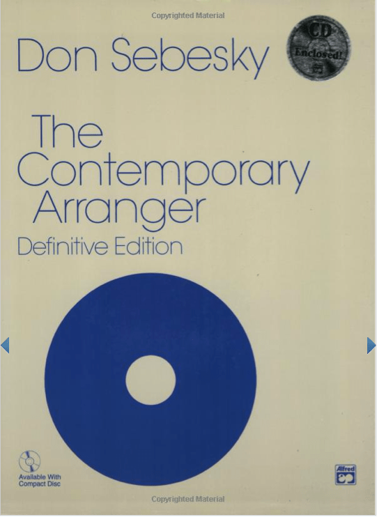 Sebesky Contemporary Arranger