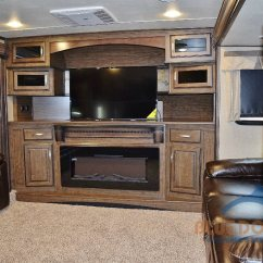 Fifth Wheel With Front Living Room How To Arrange A Fireplace And Tv On Opposite Walls Grand Design Solitude 375fl Luxury Blue 379fl Area