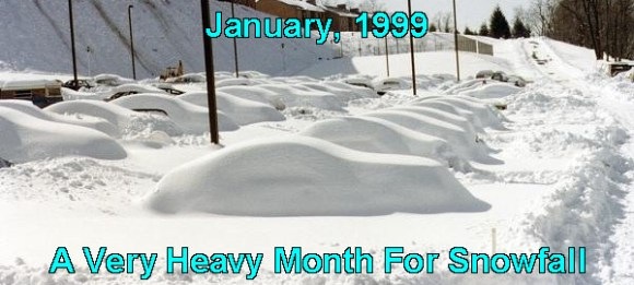 A photo of the January 1999 snowfall in Toronto, the most ever accumulated according to the city's records.