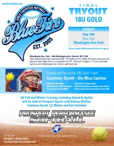Final Tryout for 18U Gold