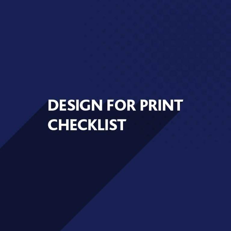 Design for Print Checklist