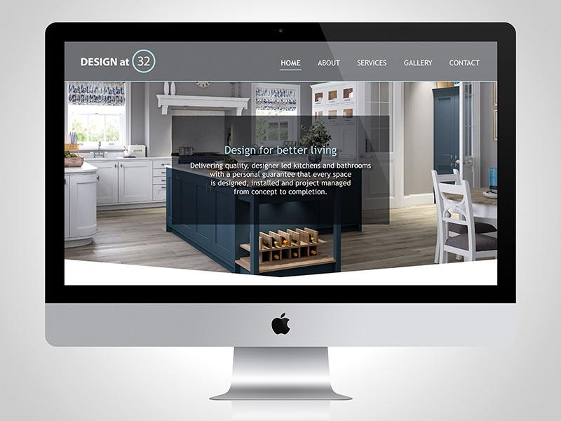 Award-winning Website Design for DESIGN at 32 from BlueFlameDesign