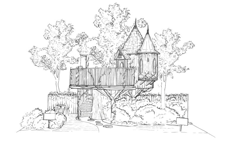 Blue Forest Tree House at The RHS Chelsea Flower Show