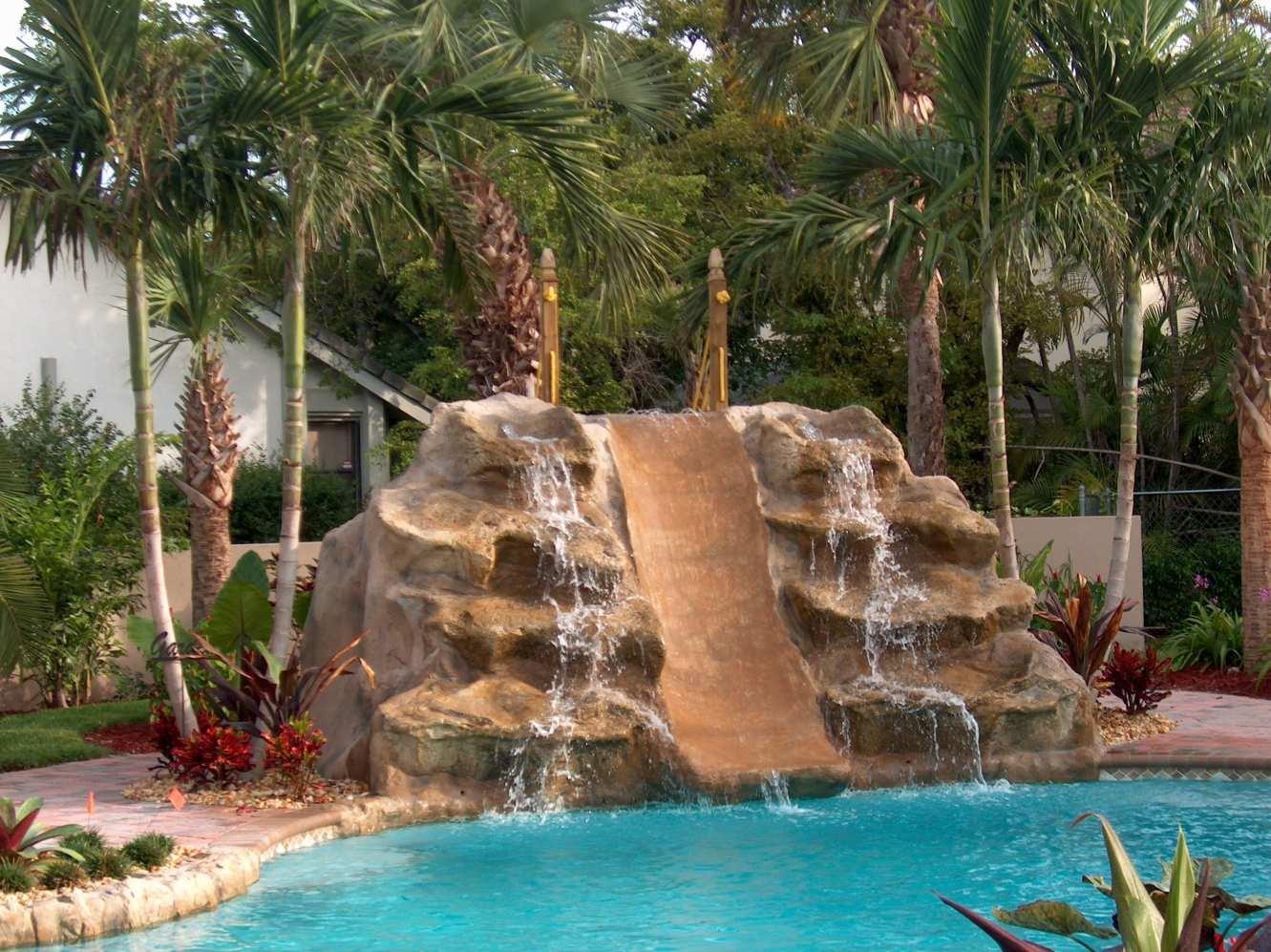 Blue Fountain Pools RockWaterfallSlide Pools