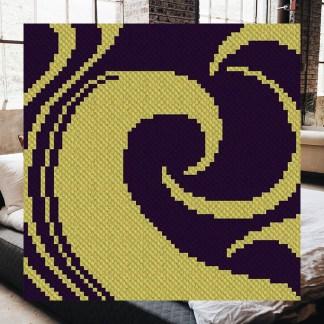 Into The Night C2C Corner to Corner Crochet Pattern