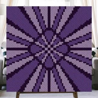 Purple Rays Corner to Corner Crochet Pattern