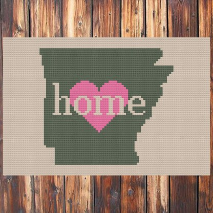 Arkansas Home Cross Stitch Chart