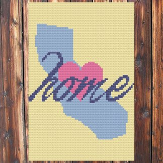 California Home Cross Stitch Chart