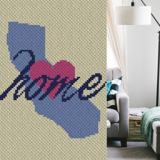 California Home C2C Corner to Corner Crochet Pattern