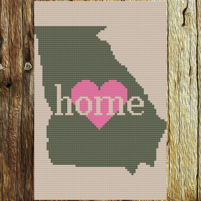 Georgia Home Cross Stitch Chart