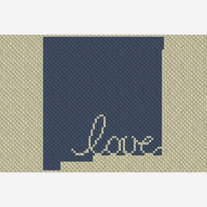 New Mexico Love C2C Crochet Pattern Corner to Corner