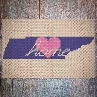 Tennessee Home C2C Crochet Pattern