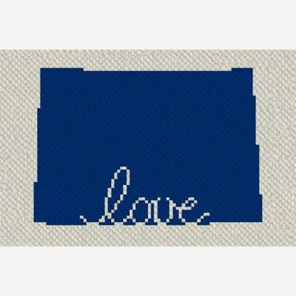 Colorado love corner to corner c2c crochet pattern