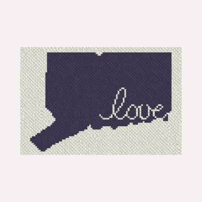 Connecticut love C2C crochet pattern