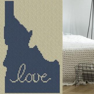 Idaho Love C2C Afghan Crochet Pattern Corner to Corner Crochet Pattern Graphghan Cross Stitch Blue Frog Creek