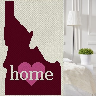 Idaho Home corner to corner C2C crochet pattern