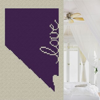 Nevada Love C2C Afghan Crochet Pattern Corner to Corner Graphghan Cross Stitch Pattern Blue Frog Creek