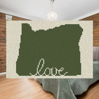 Oregon love corner to corner crochet pattern
