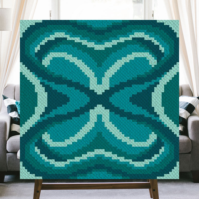 Midnight Moth C2C Crochet Pattern | Blue Frog Creek