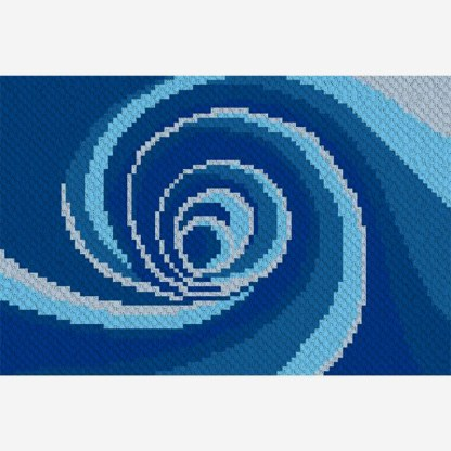 Down the Drain Down Under C2C Corner to Corner Crochet Pattern