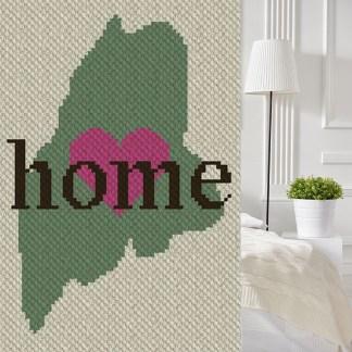 Maine Home C2C Corner to Corner Crochet Pattern