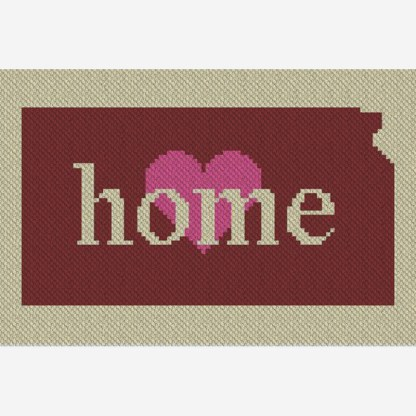 Kansas Home C2C Afghan Crochet Pattern Corner to Corner Crochet Blanket