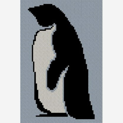Sir Penguin C2C Afghan Crochet Pattern for Corner to Corner or Graphghan Blanket