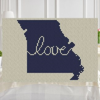 Missouri Love C2C Afghan Crochet Pattern for Corner to Corner Graphghan Cross Stitch