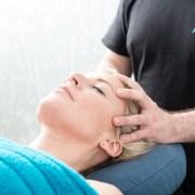 Stress relieving head massage