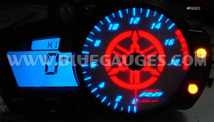 20032005 Yamaha R6 Gauge Backlighting  Bluegaugescom
