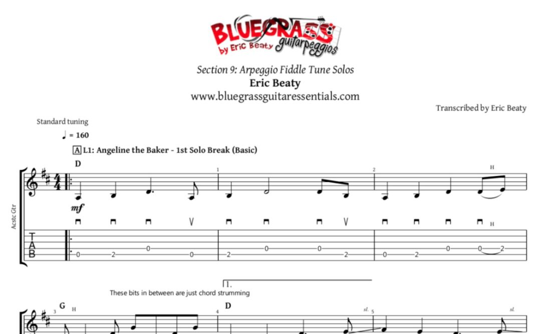 Angeline the Baker | Bluegrass Guitarpeggios