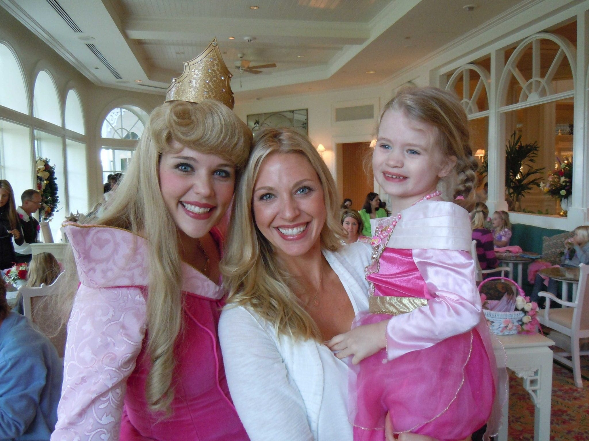 A Disney World mom blog with ways to stay sane at the Magic Kingdom with kids. Sleeping Beauty breakfast with my daughter.