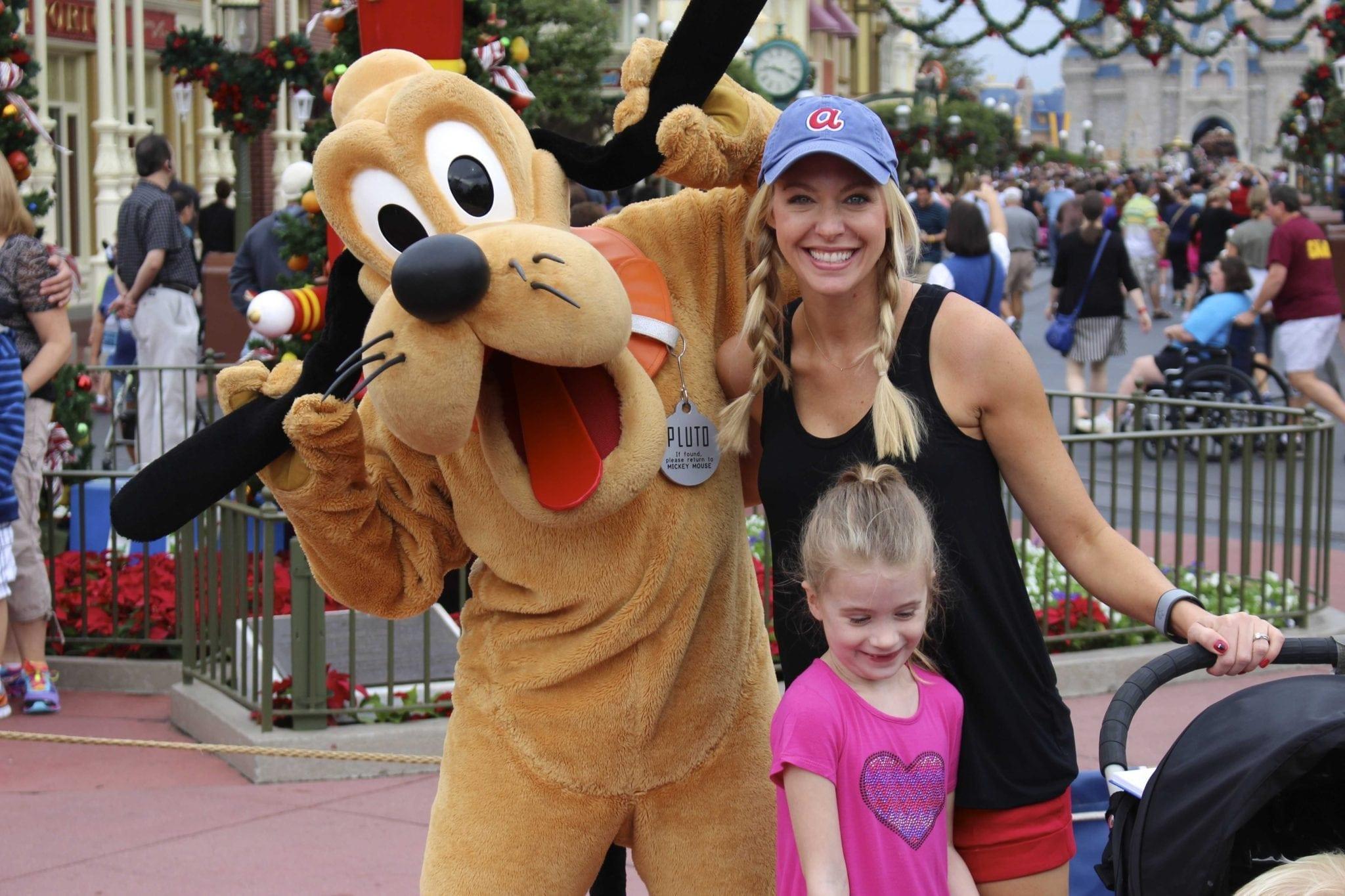 Pluto on Magic Kingdom Main Street.