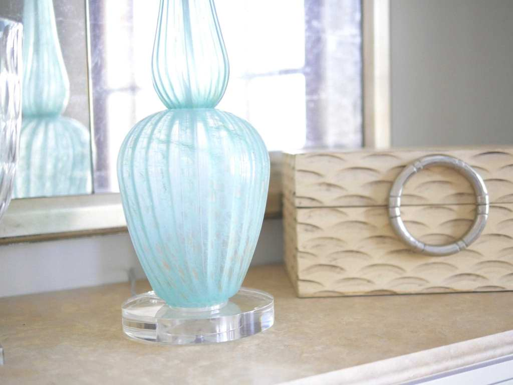 Currey and Company blue lamp