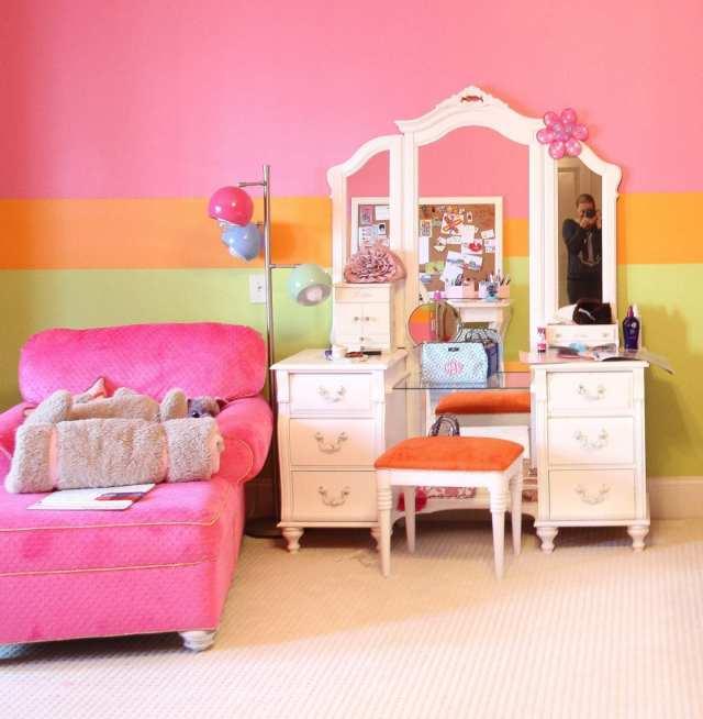 Gold and Crystal Hardware Girls Bedroom Makeover
