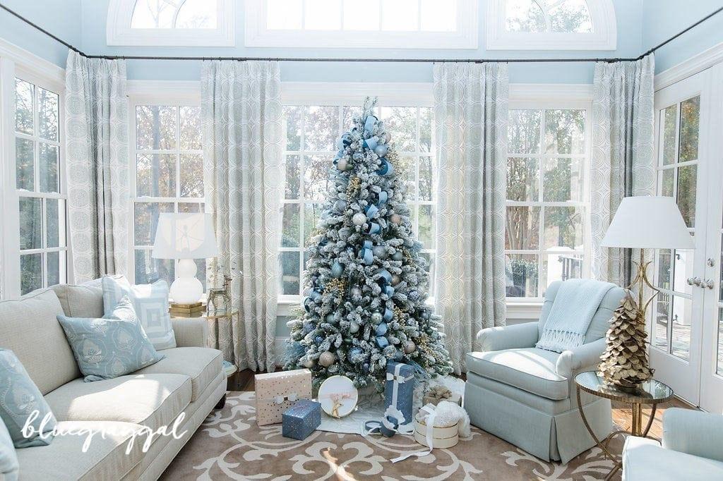 blue christmas decorating ideas