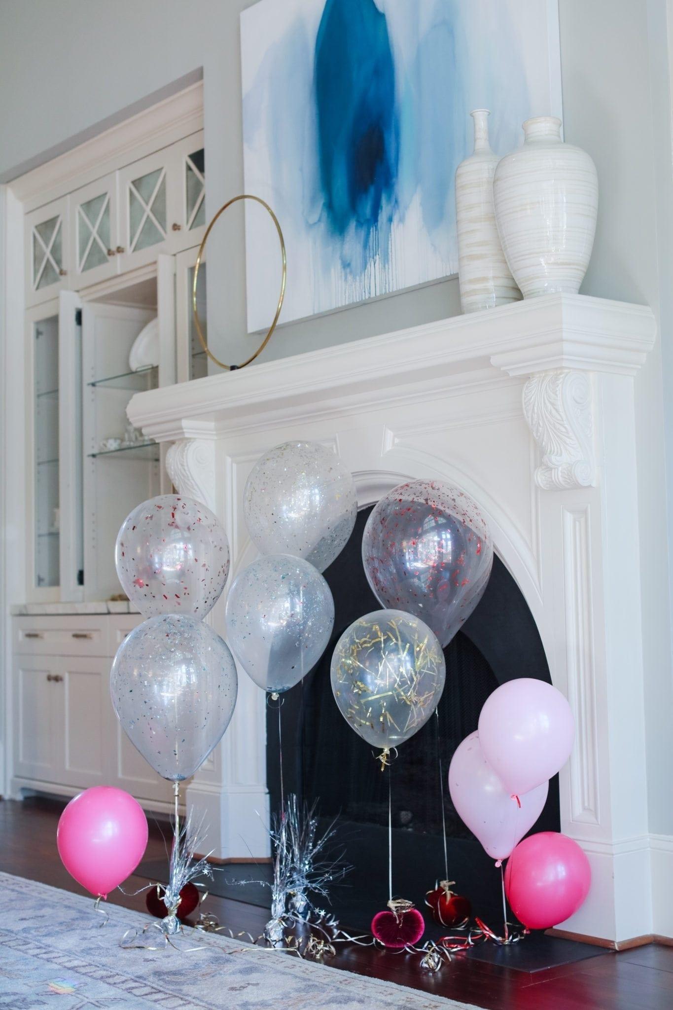 how to make glitter balloons.