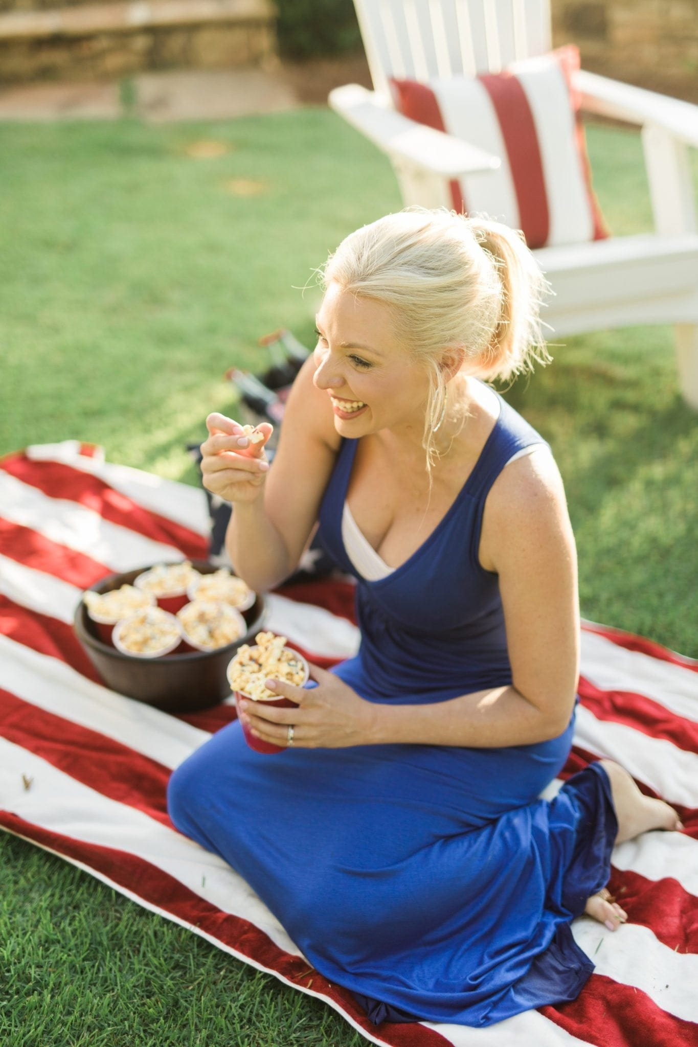 Red white and blue food ideas.
