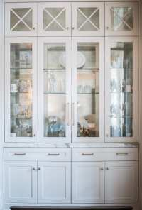 Beyond beautiful dining room storage in white + gold