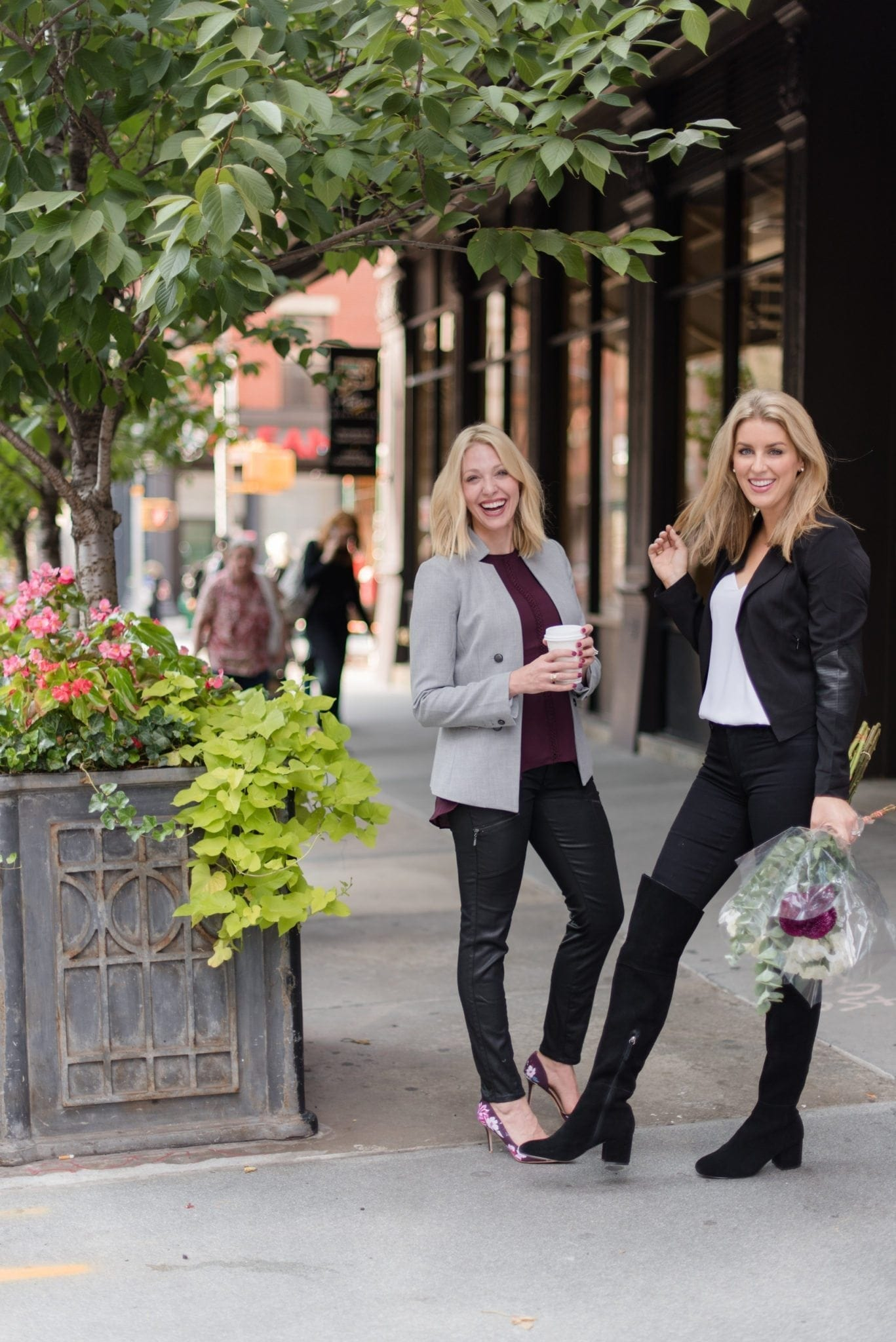 Fall outfit ideas on Jess Cathell and Kelly Page.