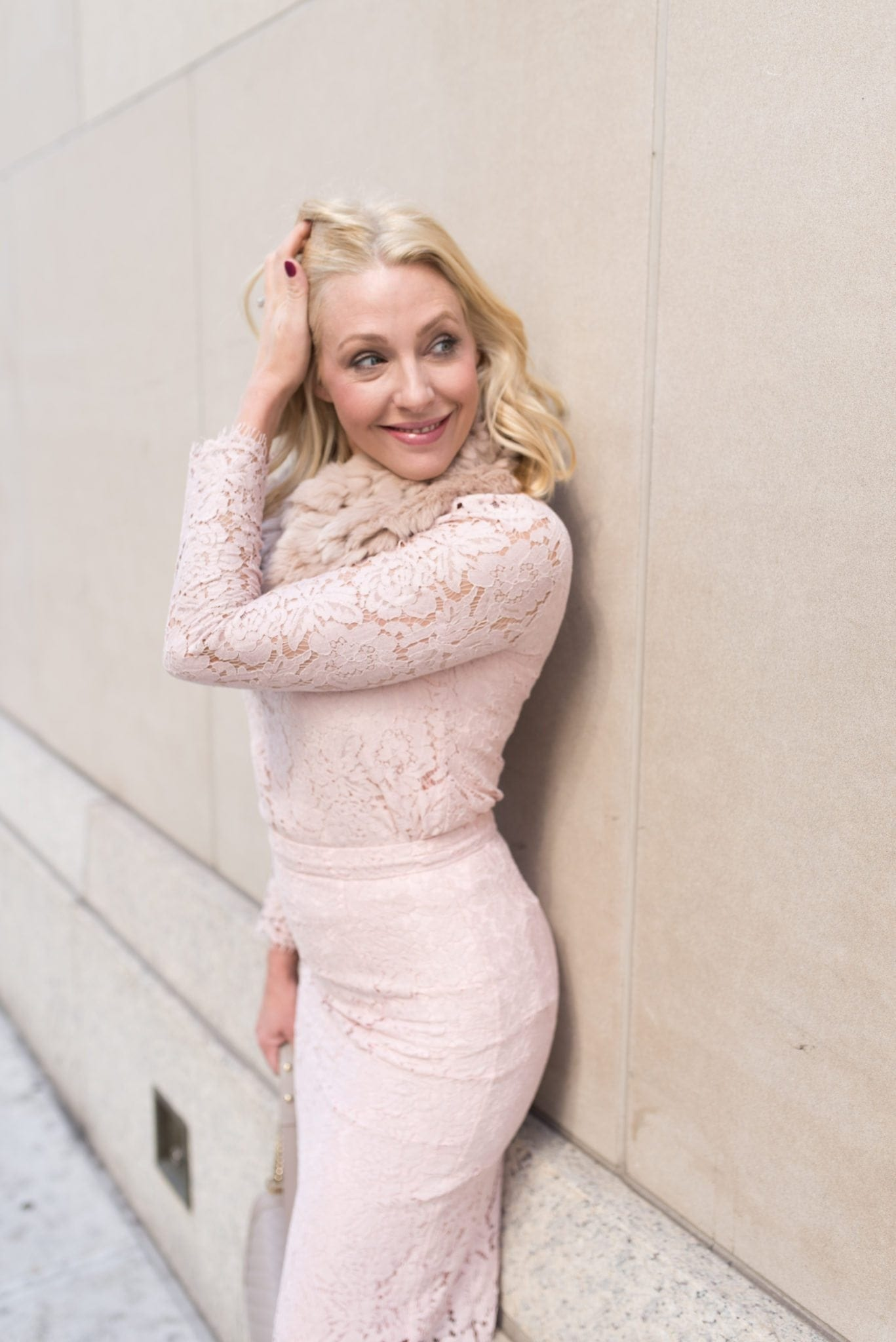 Kelly Page reviews Pink Peonies pink lace skirt.